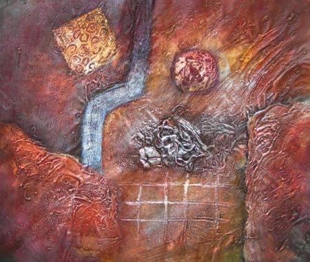 Obraz - Červená abstrakce