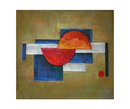 Obraz - Červené půlkruhy