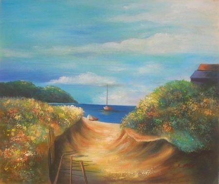 Obraz - Cesta k moři