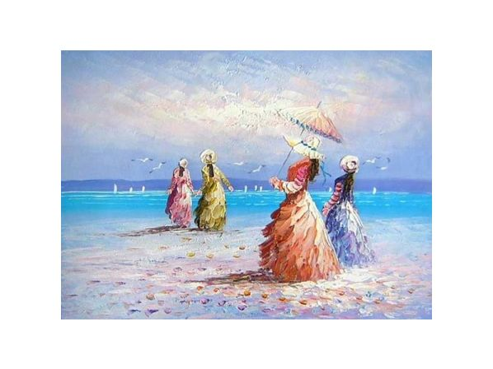 Obraz - Čtyři dámy u moře