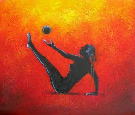 Obraz - Cvičení s míčem