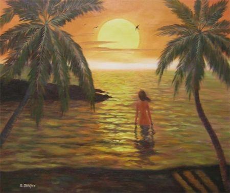 Obraz - Dívka v moři