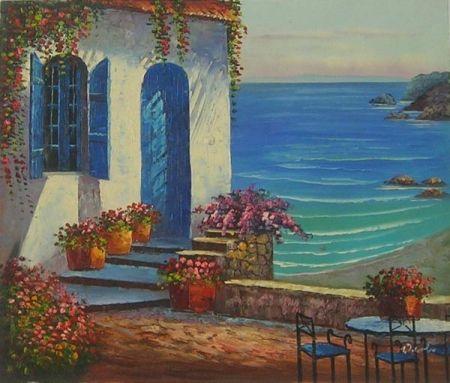 Obraz - Dům na pobřeží