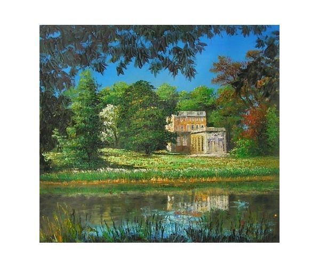Obraz - Dům u jezera