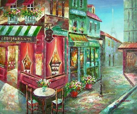 Obraz - Francouzská ulička