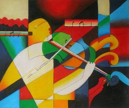 Obraz - Hra na housle
