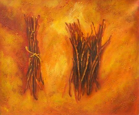 Obraz - Hromádky větviček