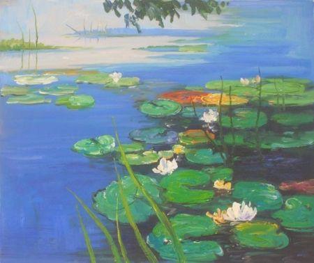 Obraz - Jezero s lekníny