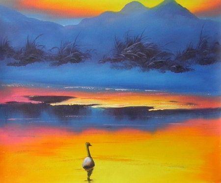 Obraz - Kachna v nebi
