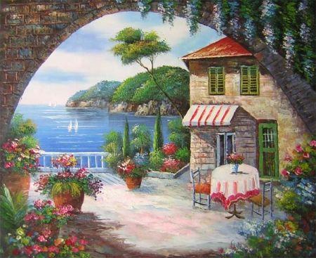 Obraz - Kavárna u moře
