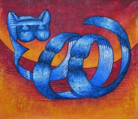 Obraz - Kočka ze stuhy