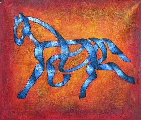 Obraz - Kůň ze stuhy