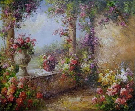 Obraz - Květinová terasa