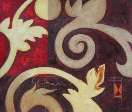 Obraz - Květy na stěně