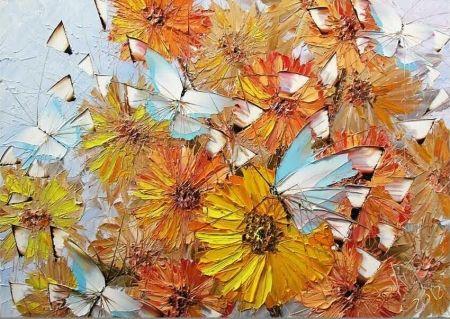 Obraz - Léto s motýly