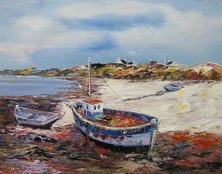 Obraz - Loď na břehu
