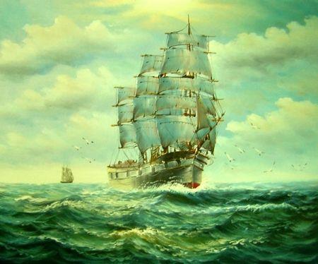 Obraz - Loď na moři