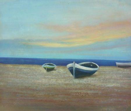 Obraz - Loďky na břehu
