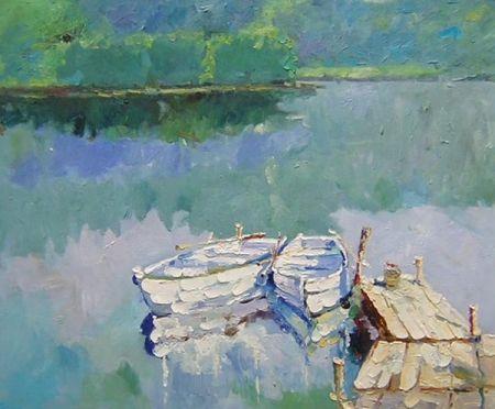 Obraz - Loďky u břehu