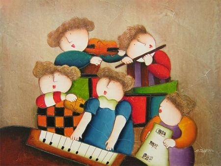 Obraz - Malí muzikanti