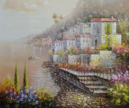 Obraz - Město na pobřeží
