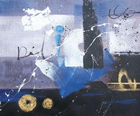 Obraz - Modrá abstrakce