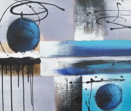 Obraz - Modré koule