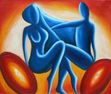 Obraz - Modrý pár