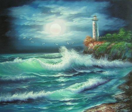 Obraz - Moře v noci