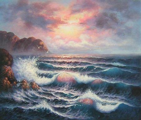 Obraz - Moře za úsvitu