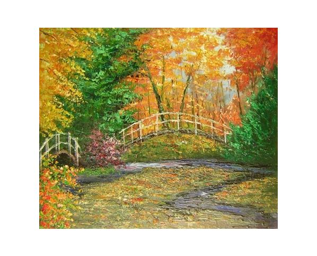Obraz - Most v javorovém lese