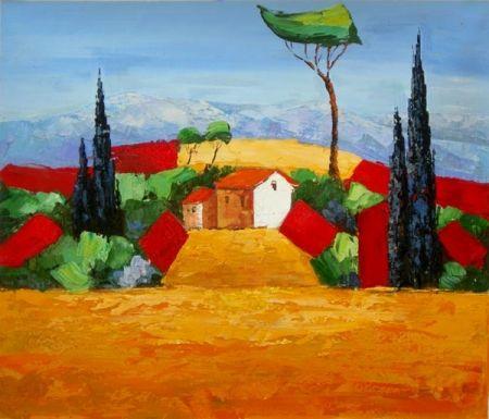 Obraz - Nádvoří vesnice