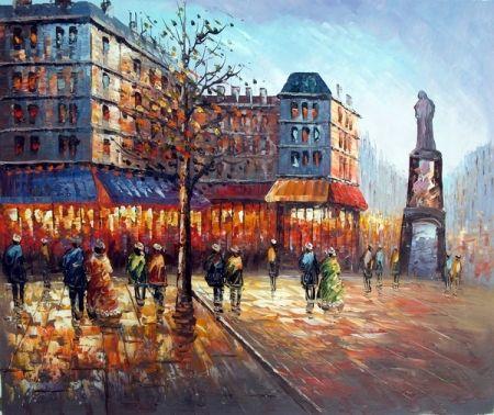 Obraz - Náměstí v Paříži