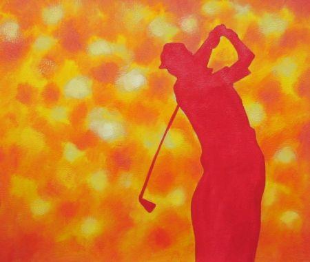 Obraz - Obrys golfisty