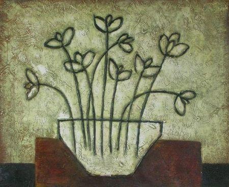 Obraz - Obrysy květin