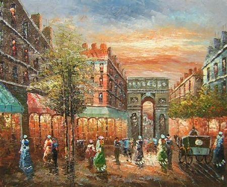 Obraz - Odpolední nákupy v centru