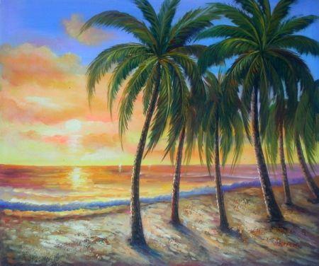 Obraz - Ostrov při západu slunce