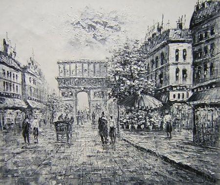 Obraz - Pařížská ulice