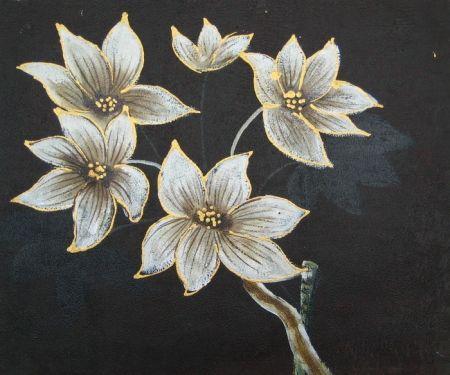 Obraz - Pět bílých květů
