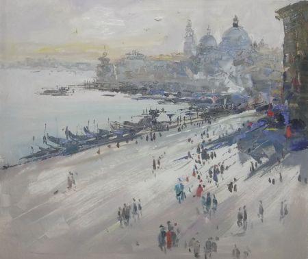 Obraz - Pláž u města