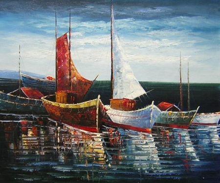 Obraz - Přístav plachetnic