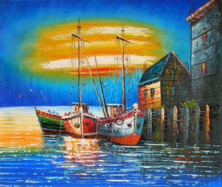 Obraz - Přístav u moře
