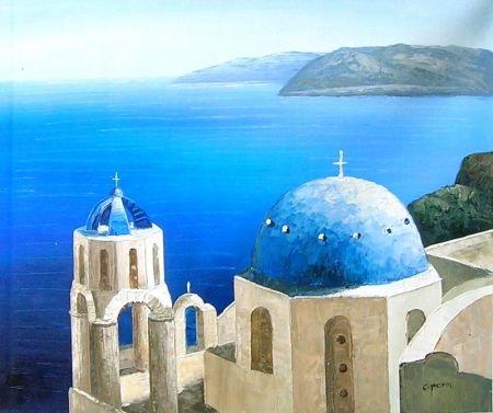 Obraz - Řecký kostel