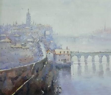 Obraz - Řeka ve městě