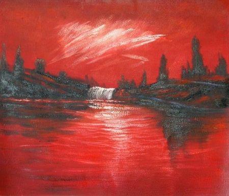 Obraz - Rudý západ slunce