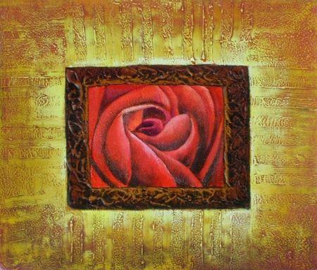 Obraz - Růže v rámu