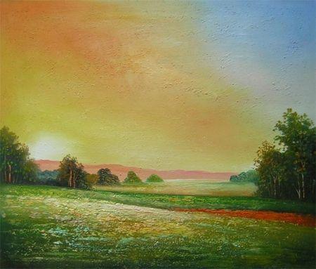 Obraz - Samota v západu slunce
