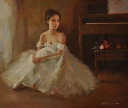 Obraz - Sedící tanečnice