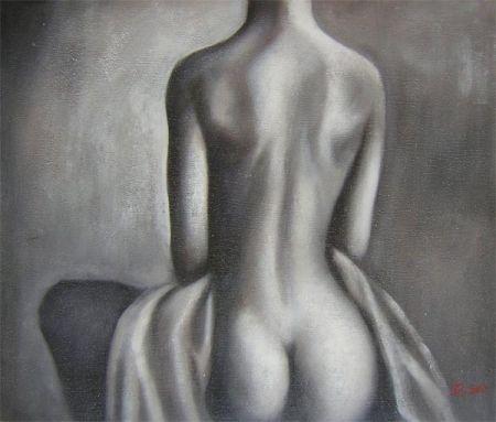 Obraz - Nahá žena ze zadu bez hlavy
