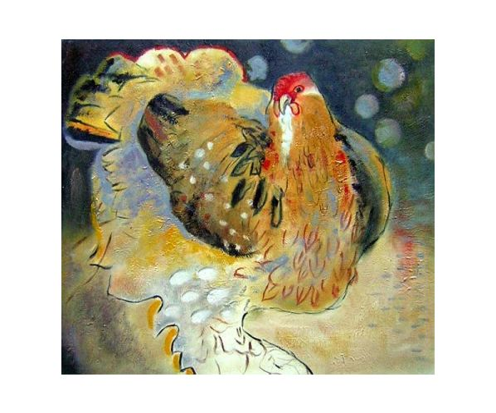 Obraz - Slepice sedící na vejcích